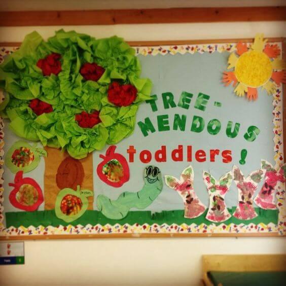 tree mendous toddlers fall bulletin board