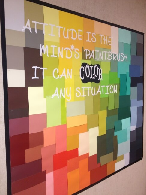 attitude is the minds paintbrush it can color any situaiton motivatonal bulletin board
