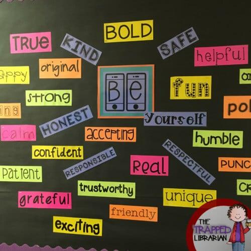 be yourself inspirational bulletin board