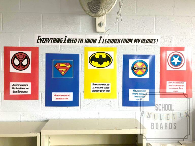 everything i need to know i learned from my heroes bulletin board