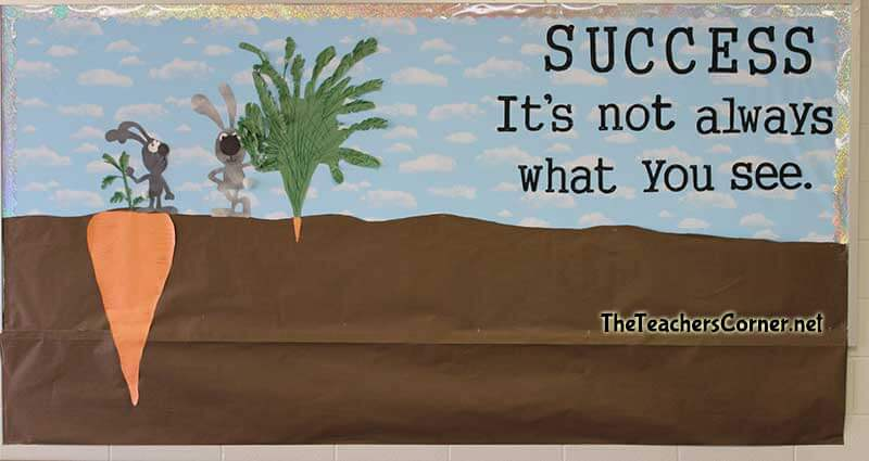 success is not always what you see bulletin board