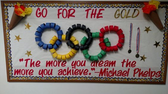the more you dream the more you achieve michael phelps inspirational bulletin board