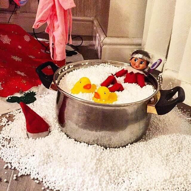 buble bath elf on the shelf