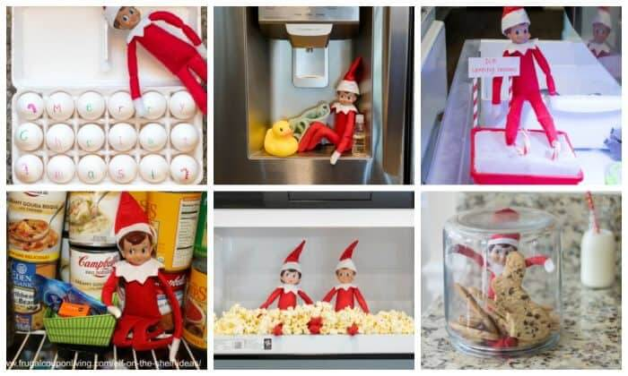 elf on the shelf hiding places in the kitchen