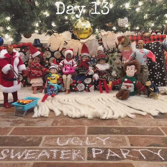 elf on the shelf ugly sweater party