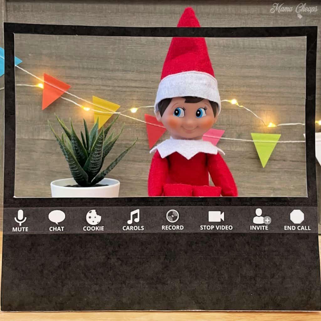 elf on the shelf zoom meeting