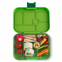 Image of Green Yumbox with removable tray