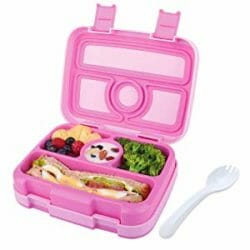 Image of Nomeca pink leak proof bento lunch box