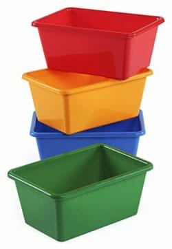 Tot Tutors Kids' Small Storage Bins In Primary Colors A Set Of Four Stacked